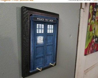 ON SALE Doctor Who Tardis COMPLETED Key Holder - Dr Who Key Hook - Time and Relative Dimension In Space