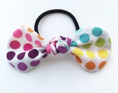 Hair Tie - Hair Bow - Girls Hair Tie - Girls Hair Bow - Polka Dot Hair Tie - Polka Dot Hair Bow - Rainbow Hair Tie - Hair Tie - Knot Bow