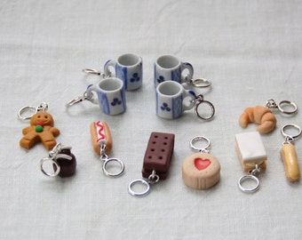 Stitchmarkers - Afternoon Coffee - Four Mugs & One of Everything - Stitch Markers