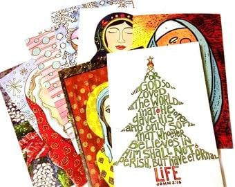 Art print Christmas card set 2
