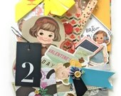 Bits and pieces scrap pack - new and vintage paper scraps 4