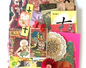 Odd and pieces Scrap Pack - Chinese scraps New and Vintage paper ephemera 1