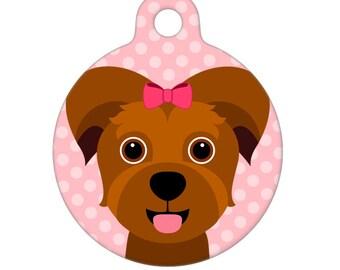 Pet ID Tag - Yorkie  Pet Tag, Dog Tag, Cat Tag