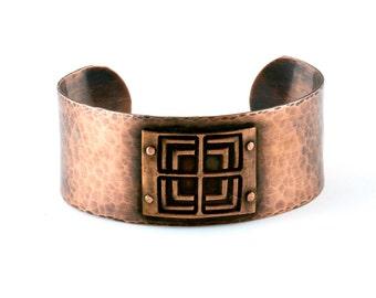 Geometric Jewelry | Copper Rivets | Copper Cuff Bracelet