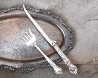 Antique silverplate fruit knife set of by rosameyercollection for Repousse amaryllis