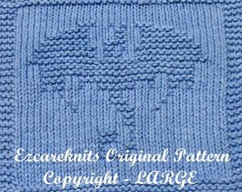 Knitting Cloth Pattern - FLYING DRAGON - PDF