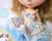 Blythe Fluffy flowers Dress