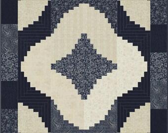 Spiral Log Cabin Quilt ePattern, 4623-15, lap quilt pattern, log cabin lap quilt