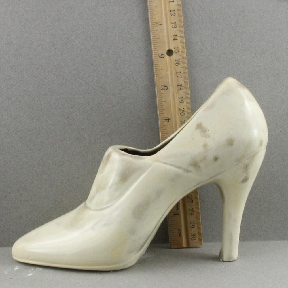 handmade raku ceramic high heel shoe decoration or by