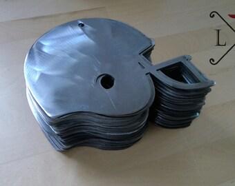 Craft metal football helmet ~ bare metal signs