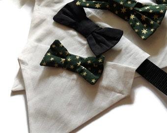 Dog bow bandana, dog accessory, dog outfit, dog dicky bow neckerchief