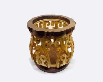 Miniature Filigree Bowl Potpourri Candle Holder