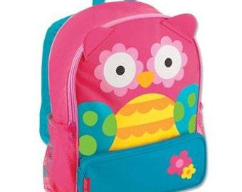 Personalized Stephen Joseph Sidekicks Backpack-Girl Owl