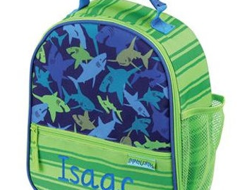 Personalized Boys Insulated Lunch bag-SHARKS  Lunch Box  Stephen Joseph