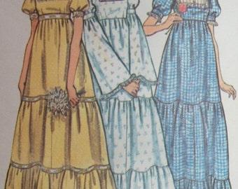 Vintage Wedding Dress Pattern 1970s Butterick 6961 Size 10