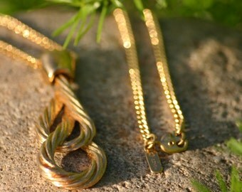 MONET Vintage Necklace Gold Jewelry Chain Pendant, Autumn Fall Wear, Christmas Gift