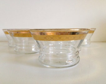 Mid-Century Gold Small Desert/Serving Bowls