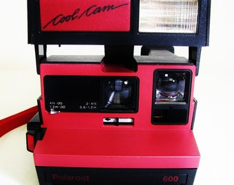 Vintage Polaroid Red Cool Cam Instant Camera Tested and Works