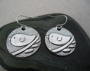 Silver Bird Earrings - Sparrow - Swallow - Simple Everyday Earrings - Unique & Fun Jewelry