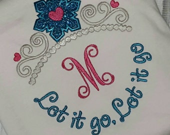 Disney Princess Monogrammed Shirt Elsa