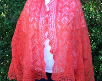 Knit Shawl Pattern:  Kirkdale Lace Shawl Knitting Pattern