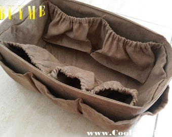 Diaper Bag Organizer Insert for LV Neverfull GM+ FREE Pacifier Holder, extra study, Faux Suede, made to order