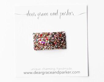 Kaleidoscope    Glitter Snap Clip