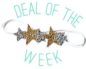 Deal of the Week    Gold & Silver Glitter Stars Halo Headband    BEST SELLER