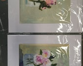 2 floral paintings for cchanger