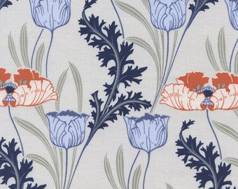 Morris Floral in Fog - C4503 - REVIVE - Timeless Treasures Fabric - By the Yard