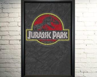 """Jurassic park word art print - 11x17"""""""