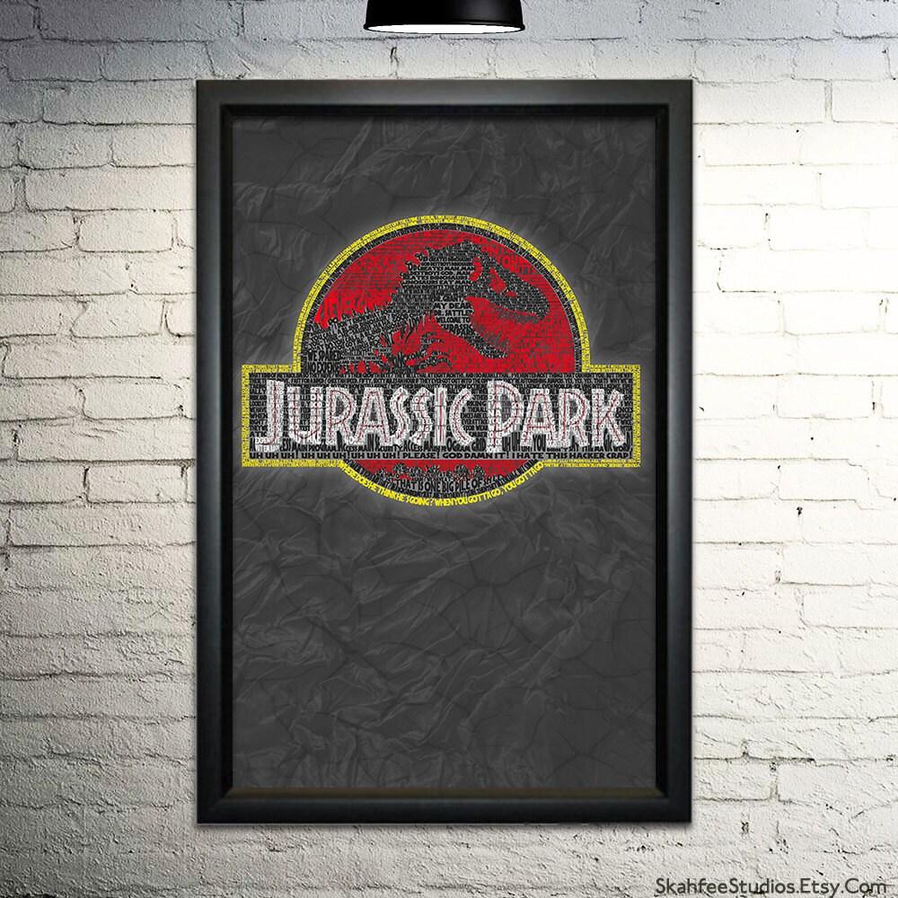 Jurassic park word art print 11x17