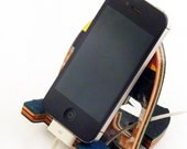 Skateboard Phone Dock - SkateDock - Cell Phone Charging Station made from Recycled Skateboards by Deckstool. Skateboarder gift, Ipod Stand
