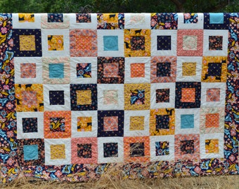 Urban Woodland, Small Plates, Twin Size Quilt