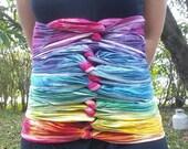 Medium/Large - Belly Binding Wrap - Rainbow - Ready to Ship!