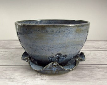 Denim Blues Berry Bowl and Saucer