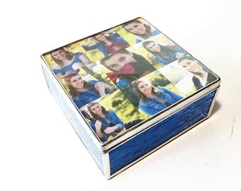 Stained Glass High School Graduation Keepsake Box Commencement Memory Gift Box Custom Made