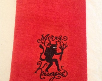 Krampus Bathroom Hand Towel