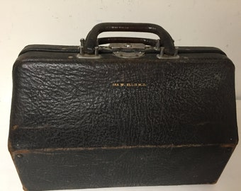 Antique Authentic Leather Doctor's Bag