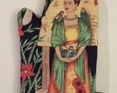 Frida in Green Oven Mitt, Kahlo, Art, Housewarming, Bachelorette, Bridesmaid, Gift, Novelty, Christmas
