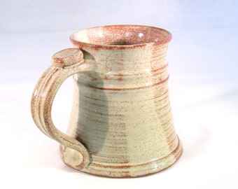 Stein - 16 oz. - Renaissance Stein - Pottery Stein - Tankard - Coffee Mug - Handmade Pottery - Pottersong - Rustic Speckled Cream