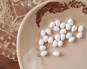 Spun Cotton Eggs,12mm - Vintage-Style Craft Shapes, 24 Pcs.