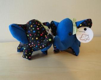 Tiny Stuffed Best Friends Elephants- Sammie and Pammie