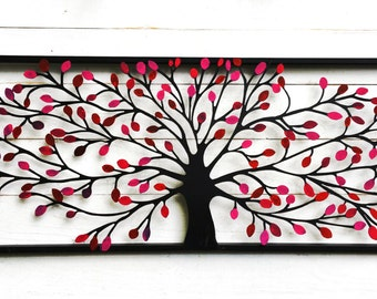 Pink Wall Decor , Metal Wall Decor, Metal Tree Wall Art, Tree Decor,Tree Wall Decor, Tree Wall Art,Tree of Life, Family Tree of Life
