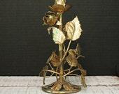 Vintage Gold Florentine Candle Holder / Gold Candlestick / French Italian Decor / Wedding Decor / Candelabra / Christmas Decor