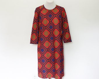 vintage 1970's square pop dress | medium/large dress