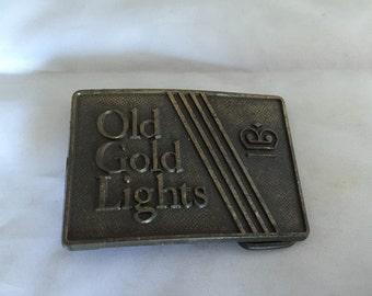 Vintage Old Gold Lights Belt Buckle