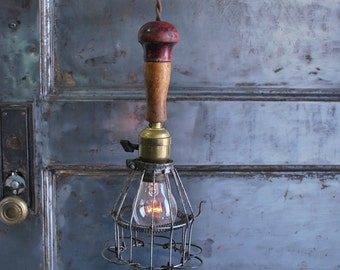 Early 1900's Drop Cage Light