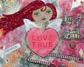 LEAP of FAITH -  Romance Valentine's Day ACEO Print