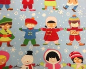Labor Day Sale - You ME Merry - Cotton quilting fabric BTY - Alexander Henry - Fabric 29 inches